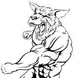 Wolf or wolfman werewolf punching Stock Photos