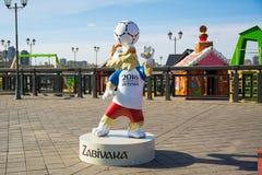 Wolf Zabivaka de officiële mascotte Stock Foto's