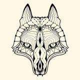 Wolf zentangle Lizenzfreies Stockbild