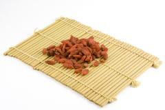 Wolfberries cinesi secchi Fotografia Stock