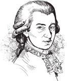 Wolfgang Amadeus Mozart ilustración del vector