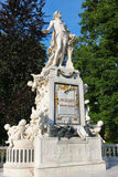 Wolfgang Amadeus Mozart. A statue of Wolfgang Amadeus Mozart in public park Burggarten in the center of Vienna. The Mozart Memorial erected in 1896 is a master Royalty Free Stock Image