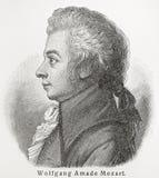 Wolfgang Amadeus Mozart Imágenes de archivo libres de regalías