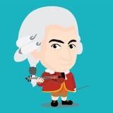 Wolfgang Amadeus Mozart Character Royalty-vrije Stock Afbeeldingen