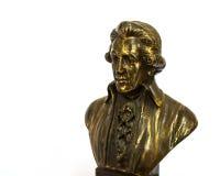 Wolfgang Amadeus Mozart. Close up of Wolfgang Amadeus Mozart statue portrait Stock Photos