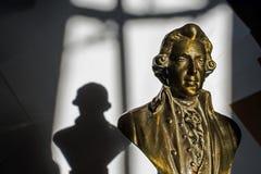 Wolfgang Amadeus Mozart. Close up of Wolfgang Amadeus Mozart statue portrait Stock Image