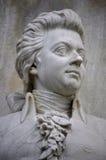 Wolfgang Amadeus Mozart. DECEMBER 2013 - BERLIN: the bust of Wolfgang Amadeus Mozart at the conductors monument (Komponistendenkmal) in the Tiergarten park of Stock Photo