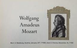 Wolfgang Amadeus Mozart klassisk kompositör arkivfoton