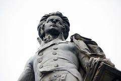 Wolfgang Amadeus Mozart. Statue of Wolfgang Amadeus Mozart in Vienna, Austria Stock Images