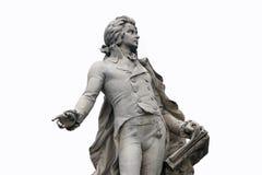 Wolfgang Amadeus Mozart. Statue of Wolfgang Amadeus Mozart in Vienna, Austria Stock Photo