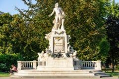 Wolfgang Amadeus Mozart Statue In Vienna Stock Photo