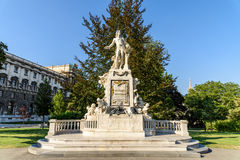 Wolfgang Amadeus Mozart Statue In Vienna Stock Photography
