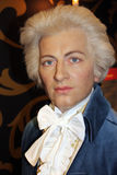 Wolfgang Amadeus Mozart (wax figure). Wolfgang Amadeus Mozart (Austrian composer, instrumentalist, and music teacher) at Madame Tussauds Museum in Vienna Royalty Free Stock Photo