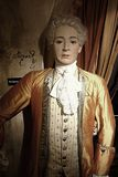Wolfgang Amadeus Mozart. 30.12.2017 Wax statue Wolfgang Amadeus Mozart, a piano virtuoso in the Wax Museum in the Czech Republic in the capital Prague Stock Images