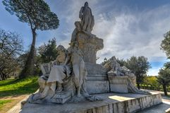 Wolfgang Goethe Monument - Rome, Italy stock photography