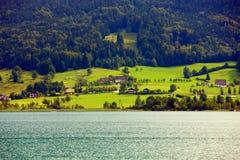 Wolfgang lake Arkivfoto