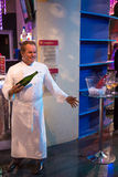 Wolfgang Puck. The Wax statue of Wolfgang Johannes Puck is an Austrian-born American celebrity chef, restaurateur, and occasional actor. Madame Tussauds, Las Royalty Free Stock Photo