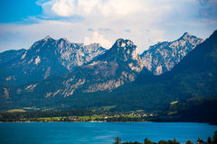 Wolfgang See lake with Sparber and Bleckwand peaks Stock Image