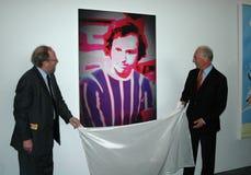 Wolfgang Thierse, Franz Beckenbauer Stock Afbeelding