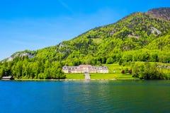 Wolfgangsee湖在奥地利 库存照片