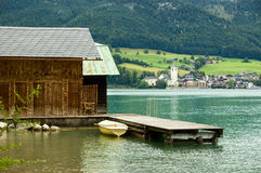 wolfgangsee λιμνών Στοκ φωτογραφία με δικαίωμα ελεύθερης χρήσης