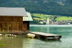 湖wolfgangsee 免版税图库摄影