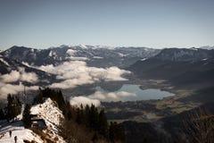 Wolfgangsee山 库存图片