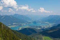 Wolfgangsee i Salzkammergut _ Royaltyfri Fotografi