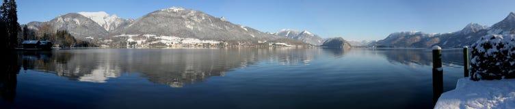 Wolfgangsee - inverno Fotos de Stock
