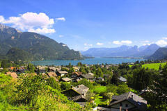 Wolfgangsee lake in Alps, Austria Royalty Free Stock Images