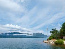 Wolfgangsee summer lake (Austria). Royalty Free Stock Images