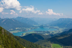 Wolfgangsee w Salzkammergut Austria Fotografia Royalty Free