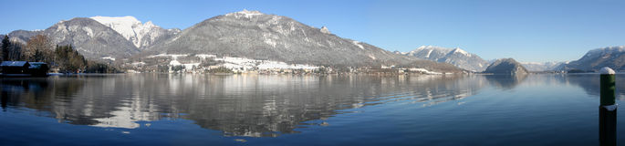 Wolfgangsee - Winter Royalty Free Stock Image