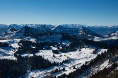 Wolfgansee-Berge Stockfotografie