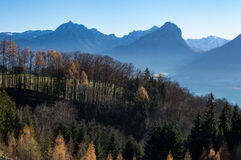 Wolfgansee Mountains Stock Images