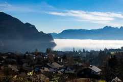 Wolfgansee & Mountains Stock Photography