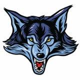 Wolfhauptmaskottchen vektor abbildung