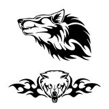 Wolfhaupttätowierungsvektor lizenzfreie abbildung