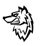 Wolfhauptvektor Stockfotografie