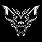 Wolfish grijnspatroon Stock Afbeelding