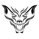 Wolfish grin pattern. Stylized image of a wolf grin vector vector illustration