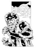 Wolfman - Comic Style Royalty Free Stock Image