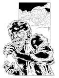 Wolfman - komische Art Lizenzfreies Stockbild