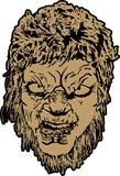 Wolfman vänder mot Royaltyfri Bild