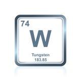 Wolfram des chemischen Elements vom Periodensystem lizenzfreie abbildung