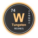 Wolfram W, chemisches Element des Wolframs Wiedergabe 3d lizenzfreie abbildung
