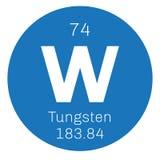 Wolframchemisches Element lizenzfreie abbildung
