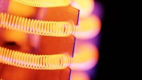 Wolframfaden der elektrischen Heizung stock video footage