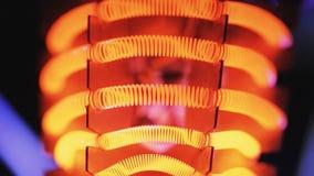 Wolframgloeidraad van straalkachel stock videobeelden