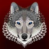 Wolfs сторона с свирлями Стоковое Изображение RF